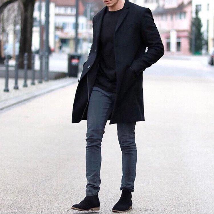 Pantalón gris con gabardina
